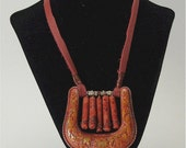 Antique red western necklace