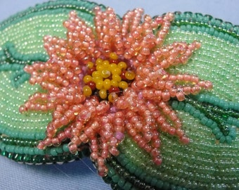 Bright beaded barrette