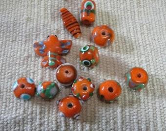 Orange lampwork