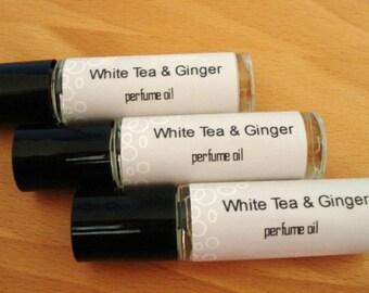 White Tea & Ginger - Perfume Oil