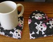 TREASURY ITEM: Set of 2 Heart Sachet / Coasters