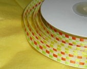 """Spool of Ribbon with this great Geometric Design is ...3/8"""" X 25 yards"""