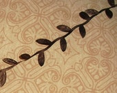 "Brown Leaf Trim...5/8"" X 3 yards"