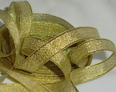 "Destash Gold Sparkle Ribbon...3/8"" X  9 yards"