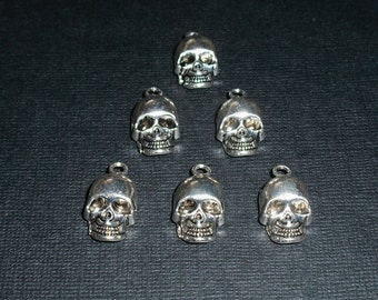 Skull Charms Set of 6