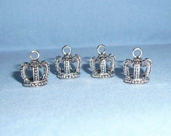 Crown Charms Set of 4