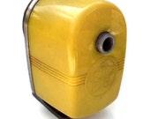 Cool Vintage Bright Yellow Apsco Star Pencil Sharpener