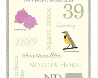 "North Dakota State Pride Series 11x14"" Poster"