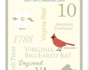 "Virginia State Pride Series 11x14"" Poster"