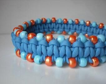 Beaded Dog Collar, Handmade Pet Collar, Spring Collar