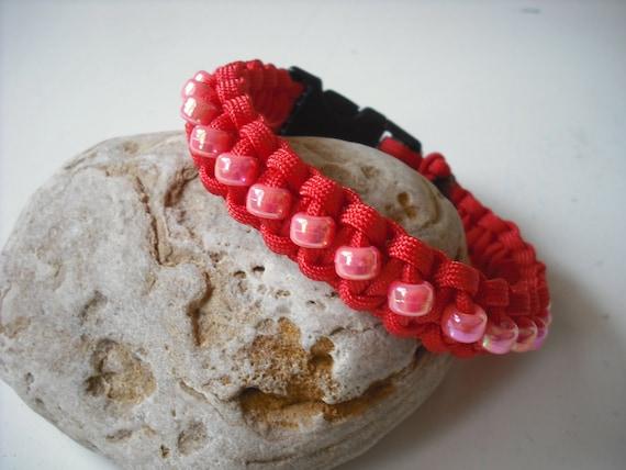 Red Dog Collar, Teacup Dog Jewelry