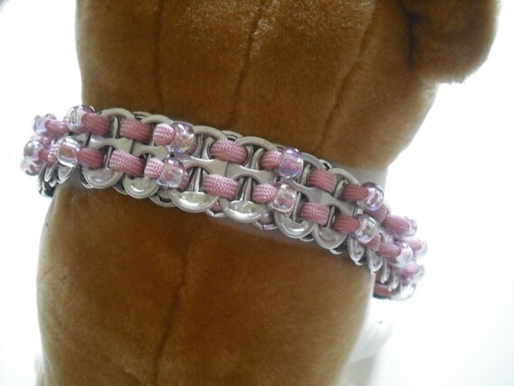 Pink Dog Jewelry, Artisan Dog Collar