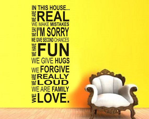 Next wall art house rules : Wall decal in this house we do rules by villagevinepress