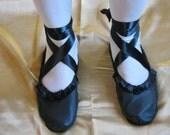 Original Design Black Leather Regency Shoes