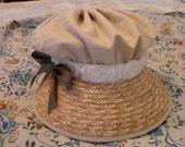 Miss Elinor's beige Regency Hat