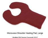 Microwave Heating Pad, Microwave, Shoulder Upper Back, Hot Cold Wrap, Washable, Red, Large