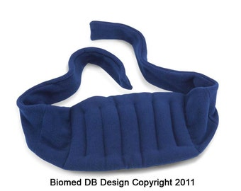Microwavable Lower Back Heating Wrap With Straps, Shoulder Joint Pain,  Hot Cold Pad Moist Heat, Navy Blue Fleece, Spot Clean