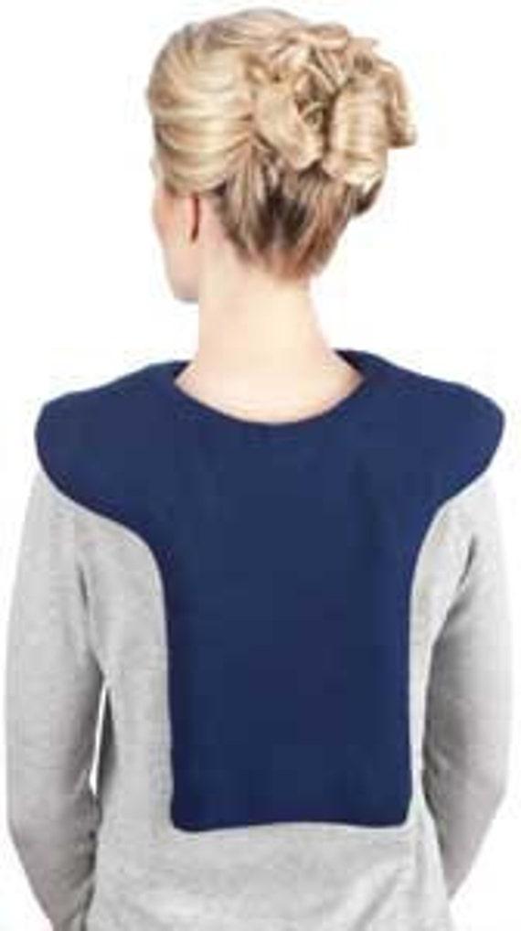 40% Off Lavender Navy Blue Shoulder Back Heating Wrap (L), Aromatherapy, Moist Hot Cold Pack, Washable Fleece