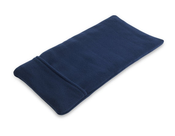 "Heating Pad Lower Back Heat Wrap Cold Wrap, Microwave, Rice, Washable Navy Blue Anti-pil Fleece Cover, Cotton Insert, 8"" x 15"""