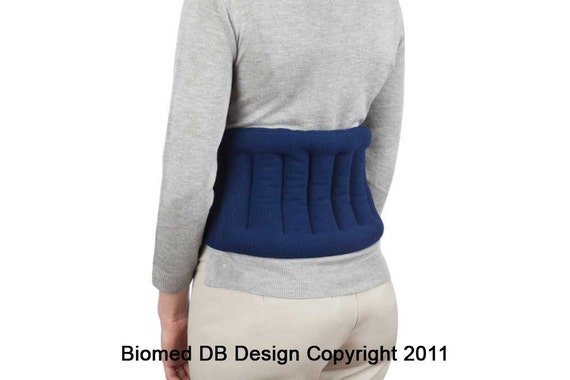 Microwavable Lower Back Heating Wrap With Straps, Shoulder Joint Pain,  Moist Heat, Back Wrap, Back Pain Relief, Navy Blue