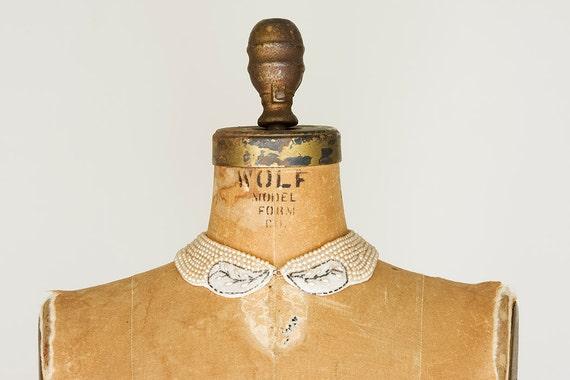 SALE 1950s Collar - 50s Collar - Pearl Beaded Collar
