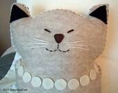 Sleepy Siamese Felt Cat Plush Pillow Pal