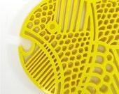 Yellow Fish Trivet by DANSK