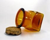 Amber Glass Jar and Natural Cork Stopper
