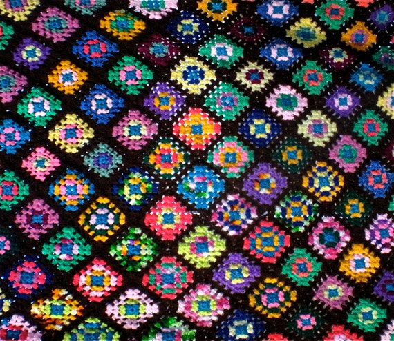 saved... Kaleidoscope Granny Square Afghan