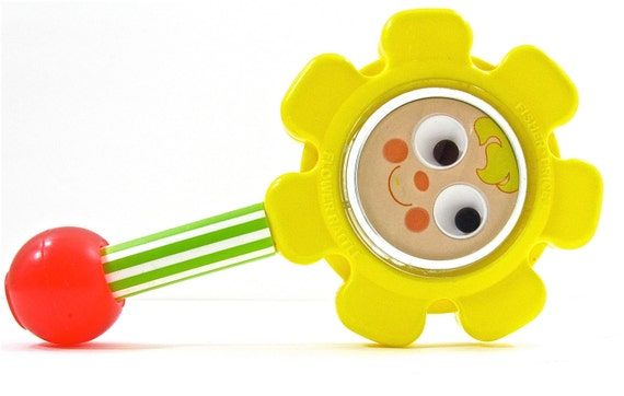 1970s Flower Rattle from Fisher Price -reserved-