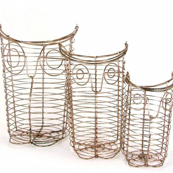 Owl Trio from Copper Wire