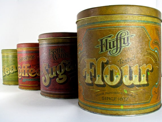 Funky 70s Kitchen Canisters