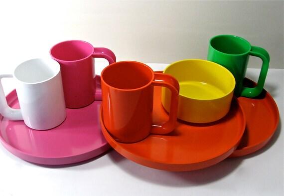 Massimo Vignelli for Heller 8 Piece Rainbow