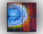 COSMIC THEORY -Original Contemporary Abstract Acrylic Textured Painting on canvas