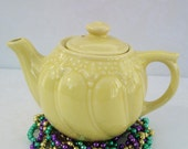 RESERVED for KATHY    Vintage Teapots, Yellow Teapot, Vintage Pottery