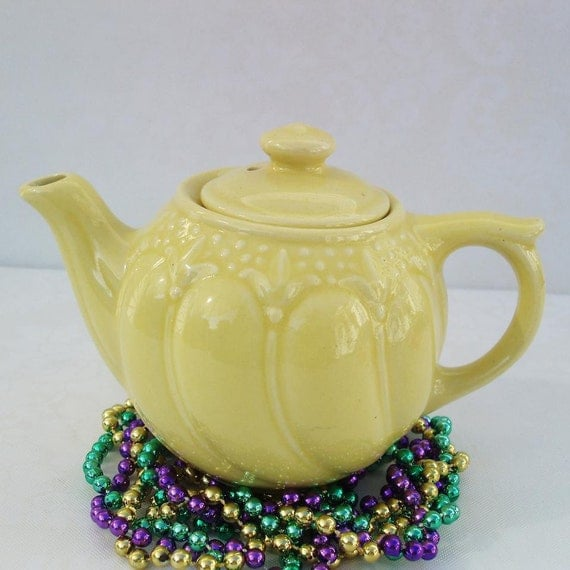 Reserved For Kathy Vintage Teapots Yellow Teapot By