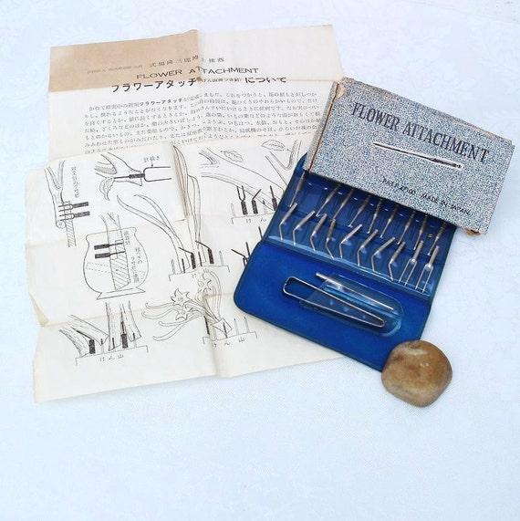 Flower Frog Pins:  Flower Maker, Japanese Accessories, Flower Attachment Tool Kit, Ikebana
