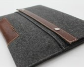 """MacBook Pro 13 inch Case 13"""" Sleeve 13 inch leather sleeve wool sleeve leather case"""