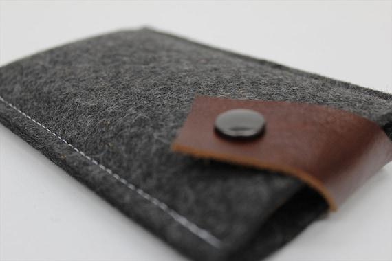iphone 6 case iphone 6 plus sleeve graphite grey wool felt