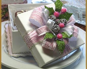 Pink Christmas Gift Box