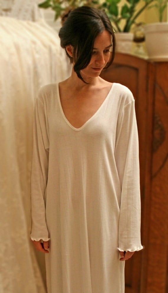 Items Similar To Cotton Nightgown Long Sleeve Long Gown