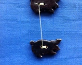 black ceramic PIG buttons