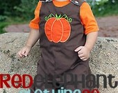 Fall Pumpkin Longall Romper, Custom Boutique