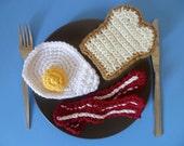 Bacon& Eggs Breakfast Crochet