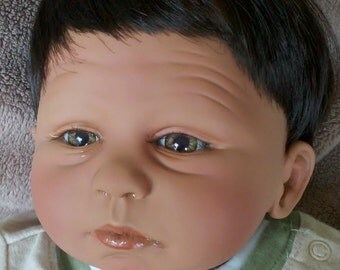 "19 inch Handmade Newborn Boy Vinyl Doll ""Daniel"""