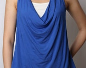 ON SALE - Eco-Friendly Cowl Neck Tank with Insert - Rayon/Spandex - Women's Shirt - in 2 colors