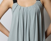 ON SALE - Eco-Friendly Pleated Tank Top - Rayon/Spandex - Women's Shirt - in Pink, Size S