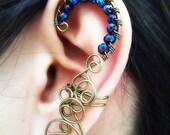 Ear Cuff Absinthe Arch Style Gunmetal Brass Ear Cuff - Wire Wrapped Handmade Jewelry -