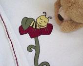 Natural Wool Baby Blanket, Sleeping bee