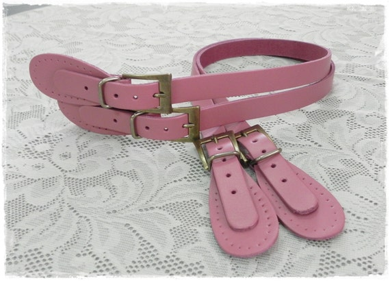 25 inch Pink Leather Bag Handle